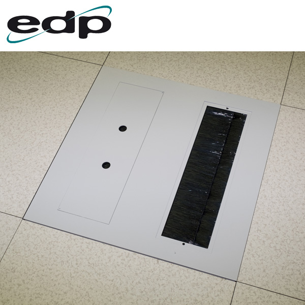 EDP Heavy Duty Brushed Floor Tile with One Opening Covered and One Opening Uncovered