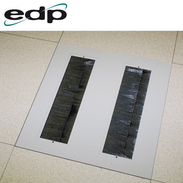 EDP Heavy Duty Brushed Floor Tile in Raised Floor With Both Openings Uncovered
