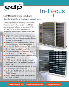 EDP Media Storage Solutions for storing LTO, DLT and 3590 style backup tapes