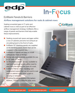 EziBlank blanking panels and rack airflow barriers for improving airflow management in data centre IT racks