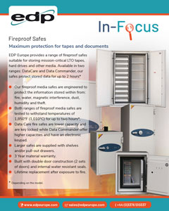 Fireproof Safes protect the stored media for up to 2 hours depending on the model
