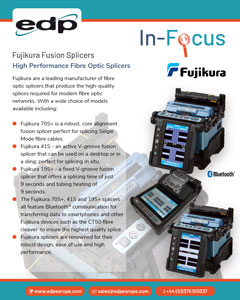 Fujikura Fibre Optic Splicers use the latest technology to produce high quality fibre splices.