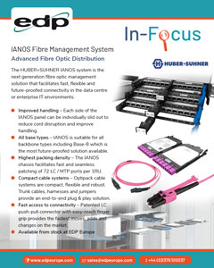 HUBER+SUHNER IANOS fibre management management system for future-proofed fibre connectivity