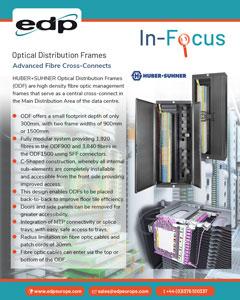 HUBER+SUHNER ODF Fibre Optic Distribution Frames - High Density Cross-Connect Cabinets