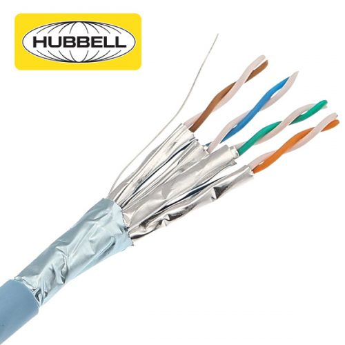 Hubbell CPR Compliant CAT6A F/FTP Cable