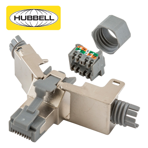 Hubbell Cat6 and Cat6A Field Termination Plug