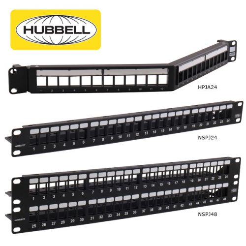 Hubbell Cat6 Patch Panels