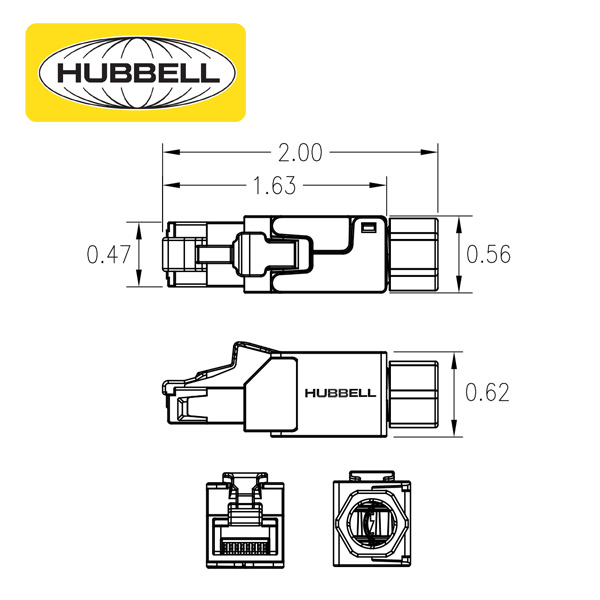Hubbell Field Termination Plug Dimensions