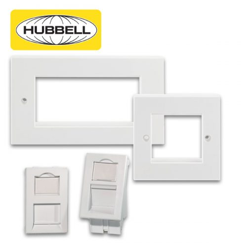 Hubbell Plastic Work Network Frames & Network Modules