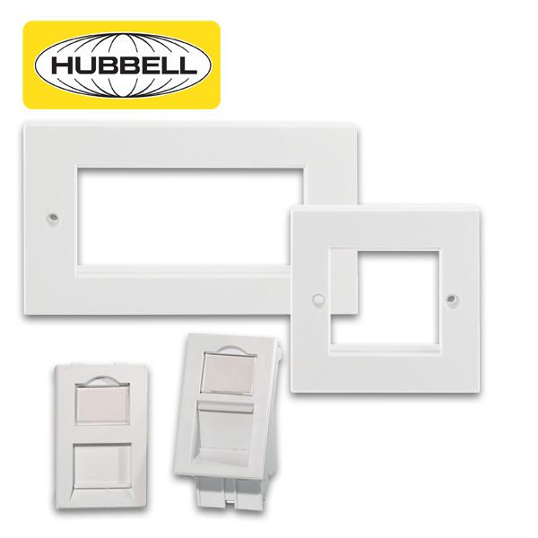 Hubbell Plastic Work Network Frames & Network Modules