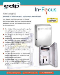 Hubbell ReBox Wall Network Cabinet the ideal solution for remote network points