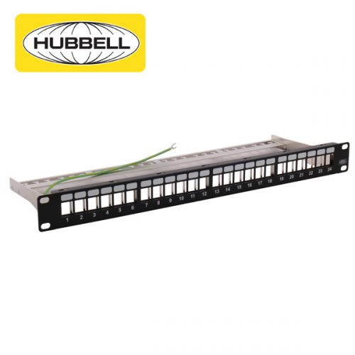 Hubbell Shielded Cat6A Patch Panel