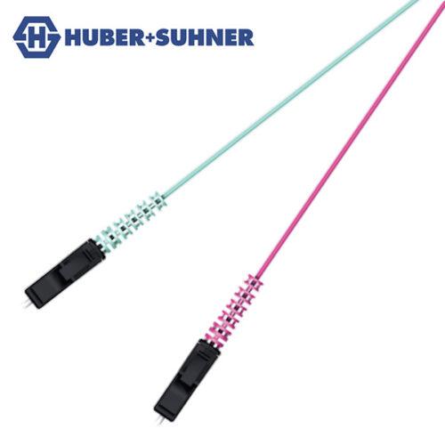 HUBER+SUHNER Multi-Mode OM3 OM4 LC-HQ BTW Pigtails