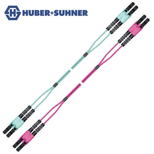 HUBER+SUHNER Multi-Mode OM3 OM4 LC Push-Pull Duplex Patch Cords