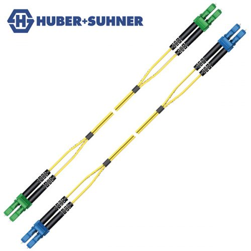 HUBER+SUHNER Single Mode UPC APC LC-Classic Duplex Patch Cords