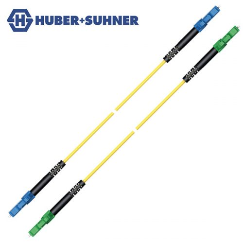HUBER+SUHNER Single Mode UPC APC LC-Classic Simplex Patch Cords