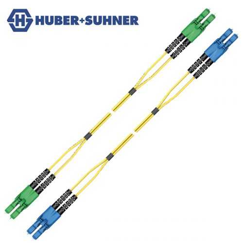 HUBER+SUHNER Single Mode UPC APC LC Push-Pull Duplex Patch Cords