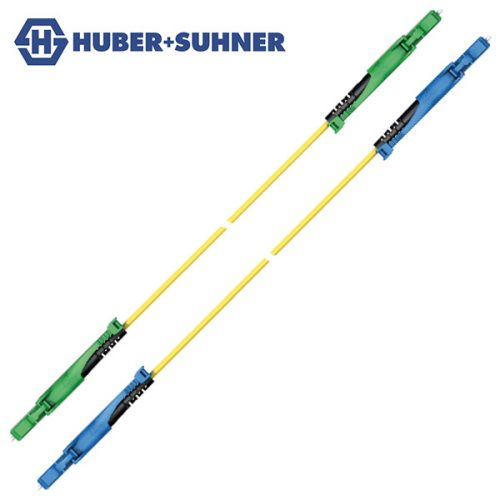 HUBER+SUHNER Single Mode UPC APC LC-HD Push-Pull Simplex Patch Cords