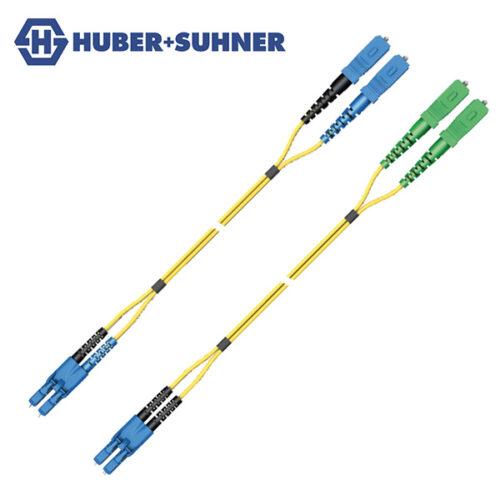 HUBER+SUHNER Single Mode UPC APC LC-SC Duplex Transition Patch Cords