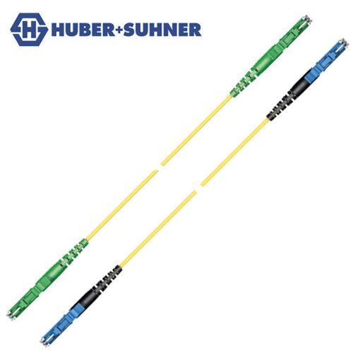 HUBER+SUHNER Single Mode UPC APC LSH E2000 Simplex Patch Cords