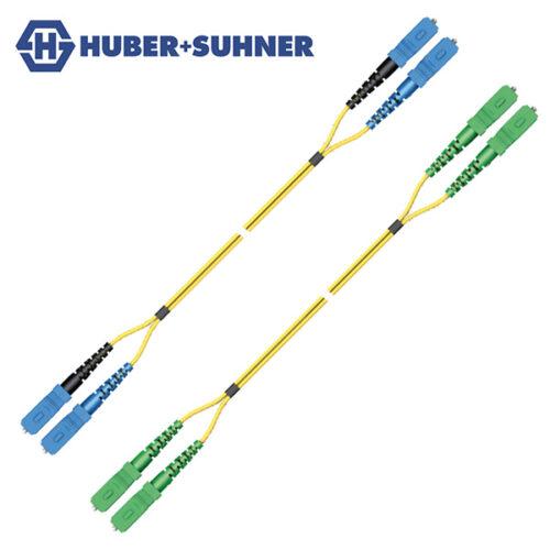 HUBER+SUHNER Single Mode UPC APC SC Push-Pull Duplex Cords