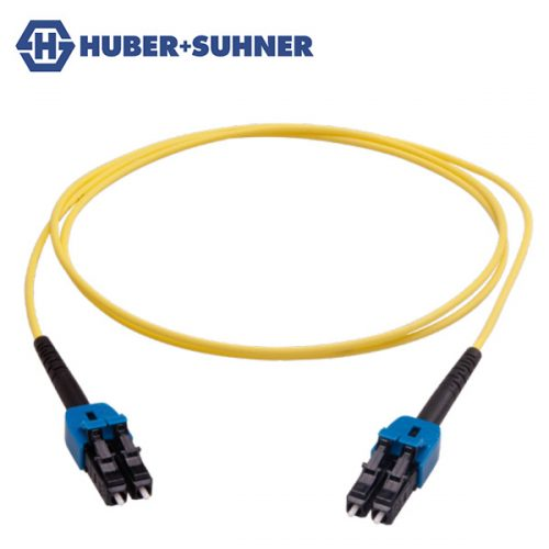HUBER+SUHNER Single Mode UPC LC Uniboot Duplex Patch Cords