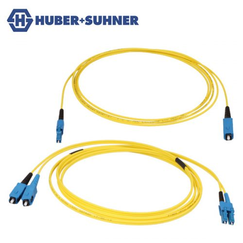 HUBER+SUHNER Single Mode LC-SC Transition Patch Cords