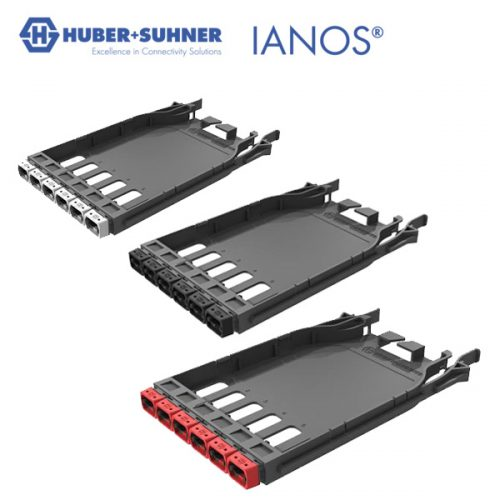 HUBER+SUHNER IANOS Base 8, Base 12 or Base 24 MTP-MTP Patch Module
