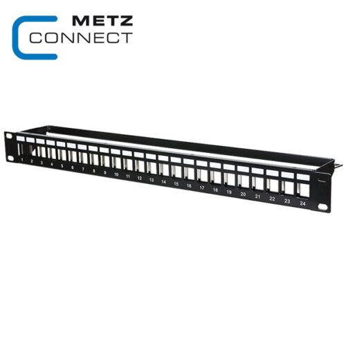 METZ CONNECT 19in 1RU 24 Port Keystone Module Frame
