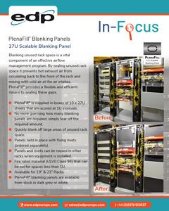 PlenaFill 27U Blanking Panels for blanking large areas of unused rack space