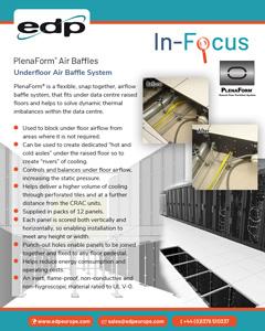 PlenaForm under floor baffles for improving airflow management under raised floors