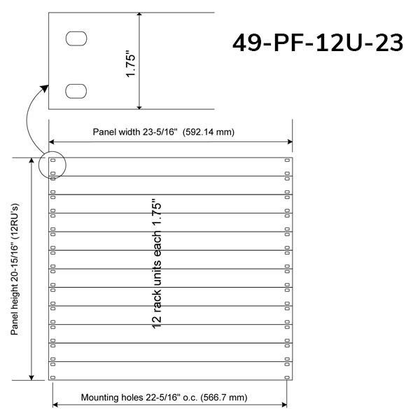 "PlenaFill 23"" Blanking Panels for EIA compliant mounting rails"
