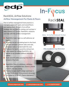 RackSEAL Air Barrier Solutions for sealing gaps in racks and raised floors