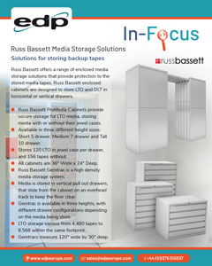Russ Bassett Media Storage Systems provide enclosed media storage for LTO and DLT backup tapes