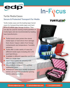 Turtle transport media cases provide a way to safely and securely transport backup tapes and drives between sites