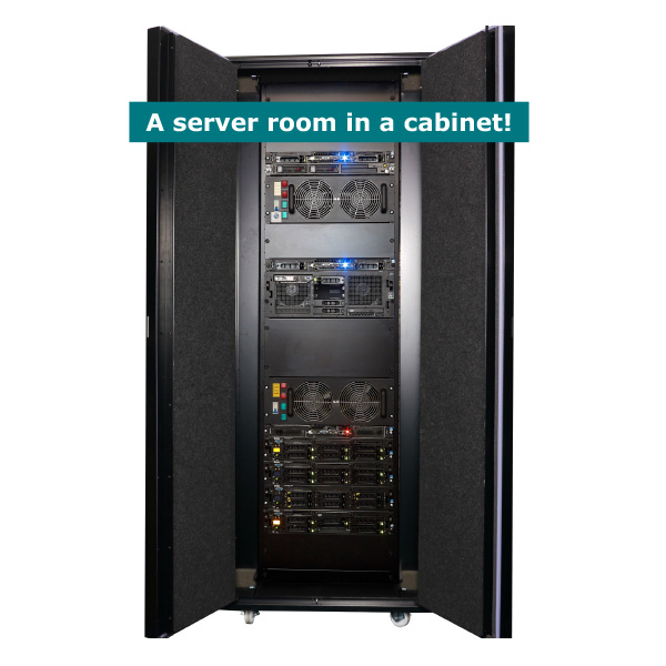 UCoustic Edge 9210i provides a Server Room in a Cabinet