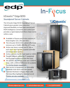 UCoustic Edge 9210i Soundproof Cabinet provides a server room in a rack solution