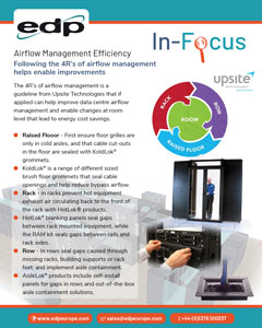 Following the 4Rs of Airflow Management helps improve data centre cooling efficiency