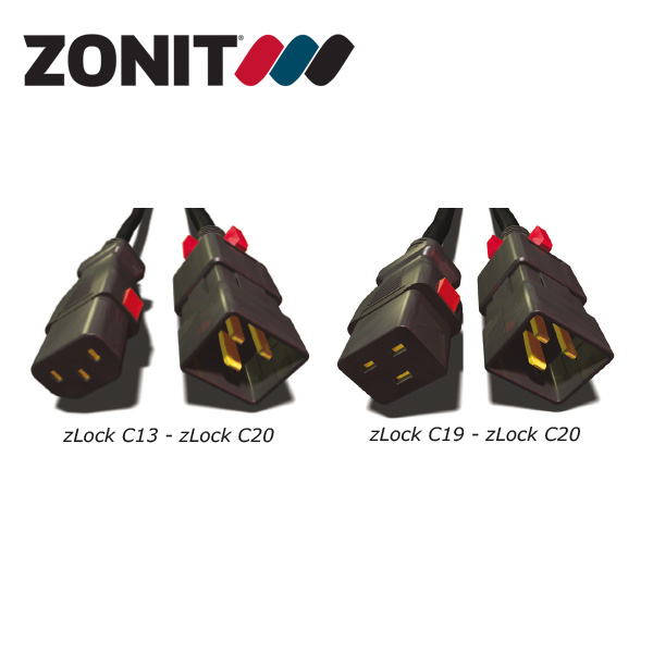 Zonit zLock Locking C20 Type IEC Power Cables