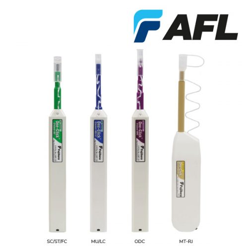 AFL One-Click Fibre Cleaners for SC, ST, FC, MU / LC, ODC and MT-RJ