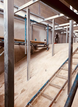 Bergvik Iso Floor copes with varying floor heights