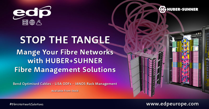 stop the tangle using HUBER+SUHNER fibre cross connect management solutions