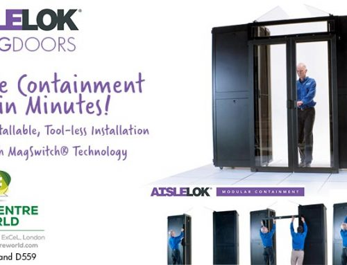 Self-Install AisleLok Sliding Doors Expand Upsite Technologies Modular Aisle Containment Solution