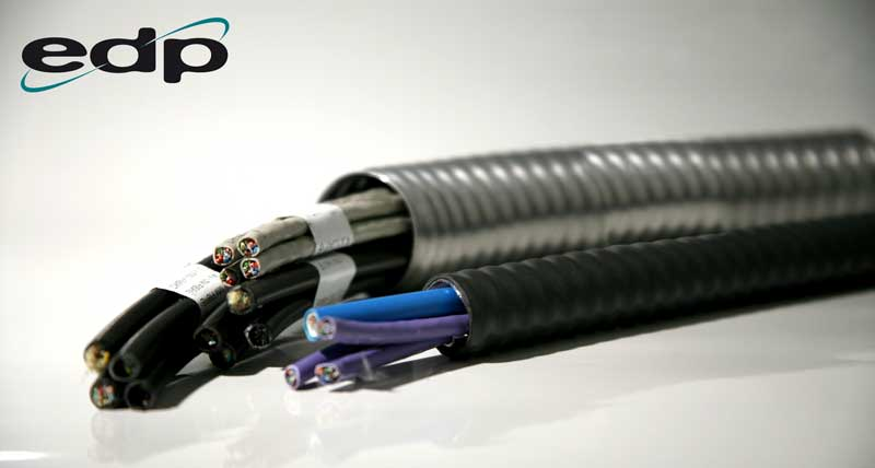 Armoured conduit for the protection of copper and fibre cables