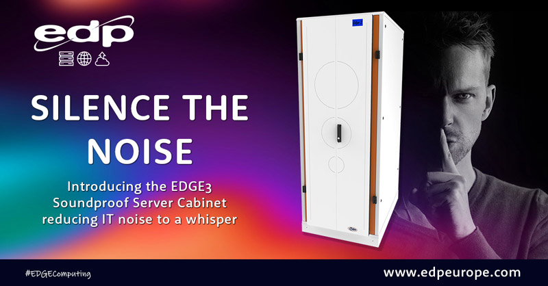 Silence the noise of servers in office environments with the EDGE 3 Soundproof Server Cabinet