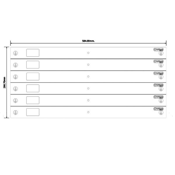 EziBlank Universal 6U 23in Blanking Panel Dimensions