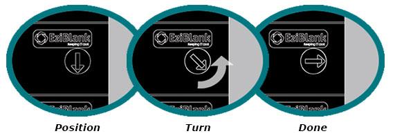 EziBlank Universal Blanking Panels Locking Mechanism
