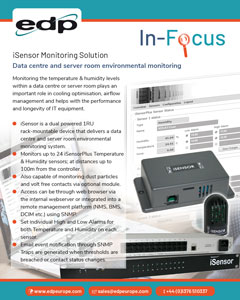 iSensor environmental monitoring for monitoring temperature and humidity within data centres and server room environments